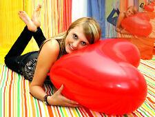 Riesen- HERZ- Luftballon 60cm Ø ROT * Riesen- Herz- Ballon * PREMIUM QUALITÄT *