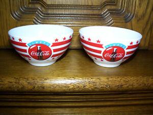 """Arcopal France """"always Coca-Cola"""" 2 Müslischalen / kleine Schüsseln"""