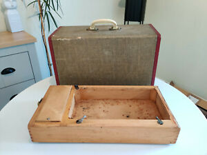 Vintage Singer Sewing Machine Wooden Carry Case & Base