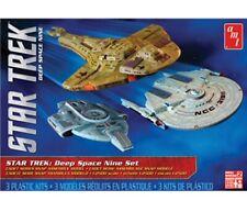 STAR TREK CADET SERIES DEEP SPACE 9, 3 Ship Set 1/2500 skill 2 AMT model kit#764