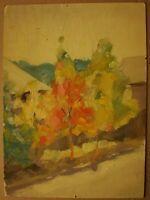 Russian Ukrainian Soviet Oil Painting Impressionism village trees