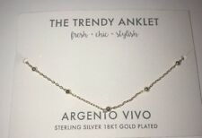 Argento Vivo The Trendy Anklet 18kt Gold Plated Sterling Silver New