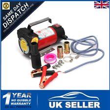 12V 175W Portable Fuel Diesel Oil Kerosene Transfer Pump Self Priming 50L/Min UK