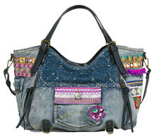 Desigual Women's Rotterdam Exotic Jeans Embroidred Denim Handbag Bag RRP?74