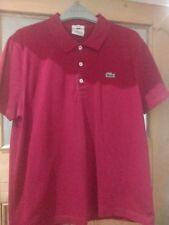 Burgundy Lacoste men's polo shirt  FR 6 - Medium/Large ML