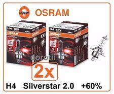 2x H4 Silverstar 2.0 +60% OSRAM 64193SV2 Halogen 60/55W 12V Headlight Germany
