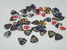 More details for guitar picks plectrums classic rock bands 50x assorted, acoustic, electric, bass