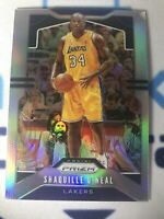 SHAQUILLE O'NEAL 2019-20 PANINI PRIZM SILVER REFRACTOR CARD LAKERS