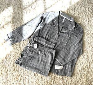 NWT Gilligan & O'Malley Plaid Pajamas Set Size 3X 100% Cotton Flannel