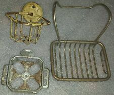 Antique claw foot bathtub soap holder & wall mount cup, sponge, toothbrush racks