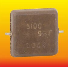 5100 pF 500 V 5% LOT OF 4 RUSSIAN MILITARY SILVER-MICA CAPACITORS KSO-5G КСО-5Г