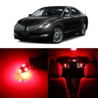 11 x Red LED Interior Light Package For 2007 - 2014 Lincoln MKZ + TOOL