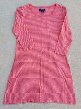GAP Girls Orange Silver Metallic 3/4 Sleeve Cotton Blend Tunic Dress 10-11 Years