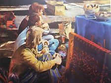 Hippies Watching Bead Maker by Robert M. Rucker Signed and Numbered 97/900