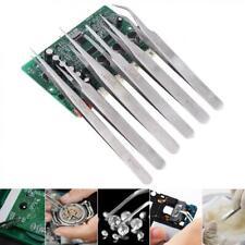 6Pcs ESD Anti-static Tweezers Set Maintenance Repair Stainless Steel Tools Kit