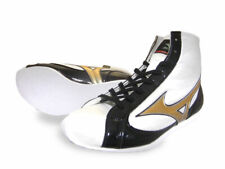 Mizuno Boxing Shoes Short White × Black × Gold Made in Japan Authentic Bto New