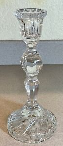 Lead Crystal Candlestick Candle Holder Unknown Maker  10 inches tall
