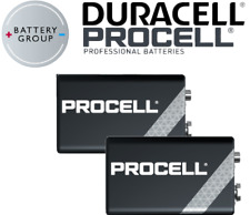 2 x DURACELL Procell 9V Block PP3 Alkaline Batteries MN1604 INDUSTRIAL Use