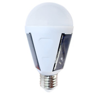 Portable 7W E27 Solar Powered LED Bulb Light Intelligent Rechargeable Lamp White