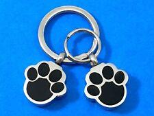 "Keyring Urn .5"" Key Chain Pet Cremation Pendant Holds Ash Dog Cat Paw Print Paws"