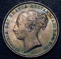 1856 Choice UNC Queen Silver Shilling CGS 82 MS64-65