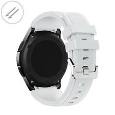 White 22 mm Rubber Silicone Replacement Watch Band Strap Quick Release Pins 4042