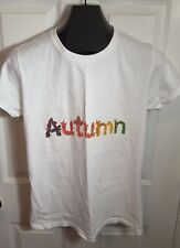 New Autumn Leaves Fall Women Colorful Leaf T Shirt New Size M