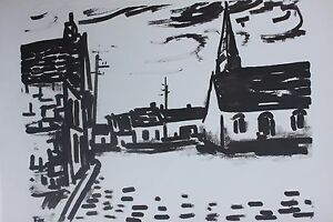 Listed French Artist Maurice Vlaminck, Lithograph