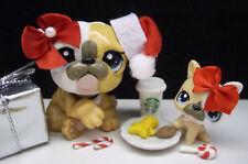 LITTLEST PET SHOP #3587 #3588 MOM & BABY BULLDOG COOKIES FOR SANTA ACCESSORIES