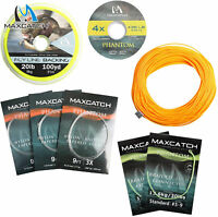 Backing Tapered Leader Maxcatch Fly Line Combo WF1F-8F ECO Floating Fly Line