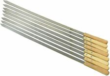 G & F - Large Stainless Steel Brazilian-Style BBQ Skewers with Hard Wood