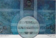 Evoluzione naturale NADIA magual-Ming tecnica mista Pittura Astratta 1989 Britannico