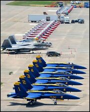 USN Blue Angels RCAF CF-18 & Snowbirds F-22 P-51 SNJ-2 Westover 2015 8x10 Photos