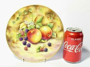 """Vintage Hand Painted Signed D.M. Fuller Cabinet China Plate Multiple Fruits 8"""""""