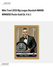 Mike Trout Topps 2020 Big League Baseball Award Winners Gold Poster 1of1 card /1