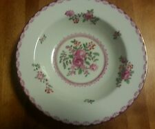 Crown Staffordshire Rimmed Soup Bowl A5782 Pink Roses