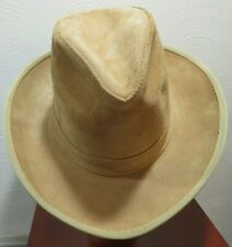Henschel Tan Suede Leather Western Outback Hat 1970 s NOS Size L 95c2e3ea1b76