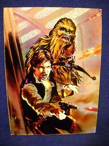 1996 Star Wars Topps Finest MATRIX #1 Han Solo & Chewbacca