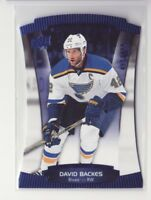 2015-16 Upper Deck Contours Blue #51 David Backes 499/499 - Flat S/H