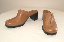Clarks Butterscotch Leather Mules Clogs Heels Shoes - Size  5 1/2 M