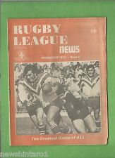 #QQ. THE RUGBY LEAGUE NEWS, 28-29th April 1973