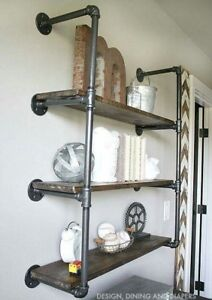 VINTAGE STYLE SHELF / SHELVES / BOOKCASE - MADE USING INDUSTRIAL PIPE FITTINGS!