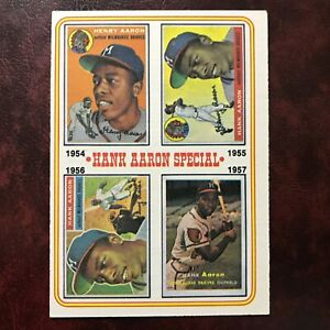 1974 Topps Set HANK AARON SPECIAL 1954-1957 #2 ATLANTA BRAVES EXMINT *HIGH GRADE