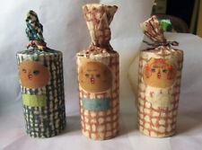 Giapponese bambole Kokeshi vintage- in legno e carta