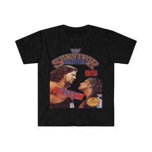 "WWE WWF Retro 1995 Survivor Series Bret Hitman Hart vs 'Diesel"" Kevin Nash Shirt"