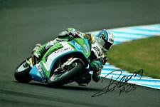 Christophe PONSSON SIGNED Superbike Autograph WSBK 12x8 Photo Kawasaki AFTAL COA