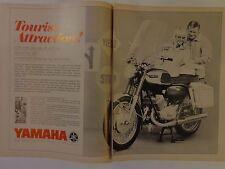 1967 vintage motorcycle magazine print ad yamaha Grand Prix 350 tourist