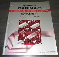 Werkstatthandbuch Elektrik Wiring Diagram Toyota Carina E AT 190 ST 190 01/1993