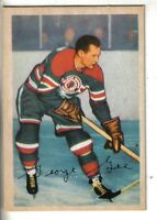 1953-54 Parkhurst Hockey Card #83 George Gee Chicago Black Hawks EX.