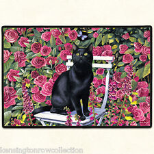 "DOOR MATS - ""GARDEN CAT"" DOOR MAT - RUBBER BACKED CAT WELCOME MAT - CAT DOORMAT"